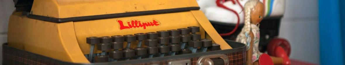 Yellow Vintage Typewriter